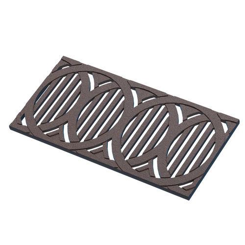 grille de drainage en fonte