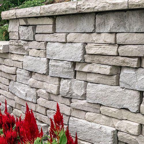 bloc de béton plein / décoratif / pour clôture de jardin / pour pilier