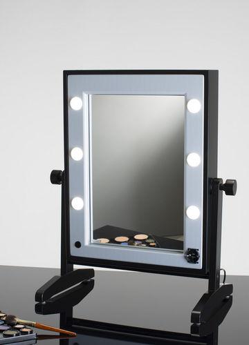miroir à poser / lumineux / contemporain / rectangulaire