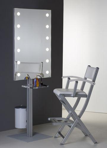 miroir sur pied / lumineux / avec étagère / contemporain