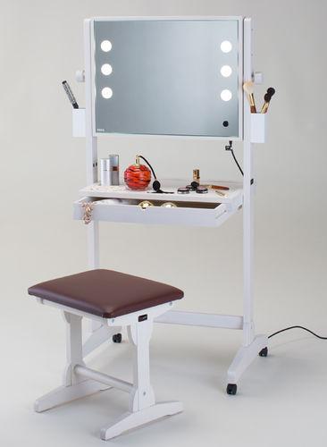 coiffeuse contemporaine / en bois / pour salon de coiffure / rétroéclairée
