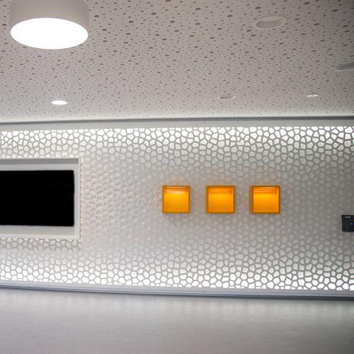 revêtement mural pour le tertiaire / texturé / perforé / pour intérieur