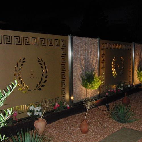 clôture de jardin / à panneaux / en HPL / brise-vue
