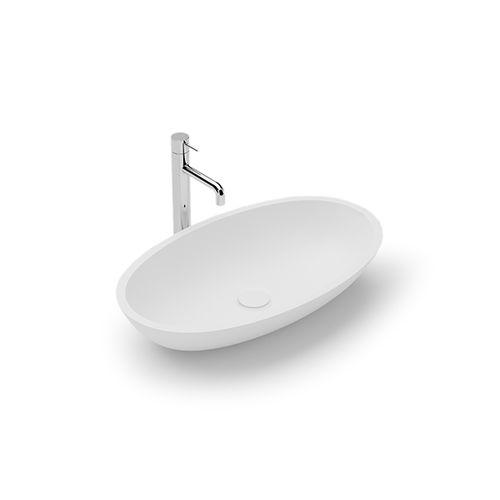 vasque à poser / ovale / en Solid Surface / en résine