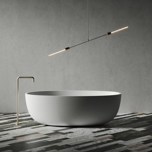 baignoire à poser / ovale / en Solid Surface / en fonte minérale