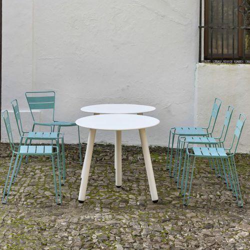 chaise contemporaine / avec accoudoirs / empilable / en acier galvanisé