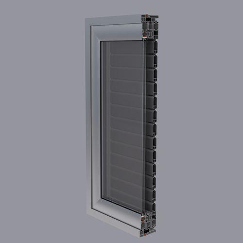 volet coulissant / en aluminium / pour fenêtre / à isolation thermique