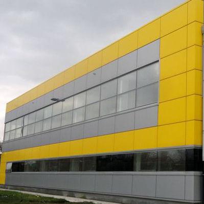 panneau composite de revêtement / en aluminium / pour bardage de façade