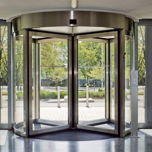 porte d'intérieur / pivotante à axe central / en verre / de sécurité