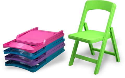 Chaise contemporaine pour enfant pliante pour école