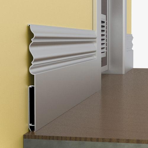 plinthe en aluminium / pour cablage électrique