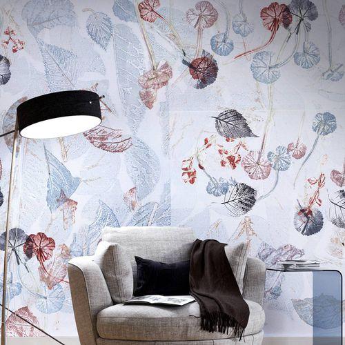 papier peint contemporain / en fibre de cellulose / en fibre naturelle / à motif nature