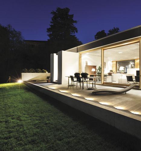 luminaire encastrable au sol / à LED / rond / d'extérieur