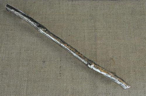 poignée de tirage de porte / en bronze / classique / aspect argenté