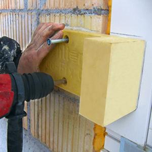 système de fixation en polyéthylène / pour façade / pour maçonnerie