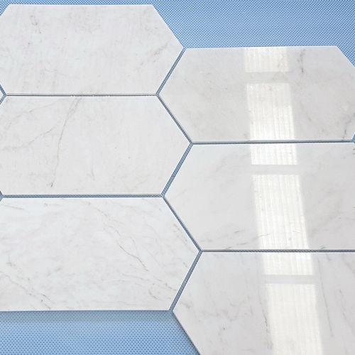 Carrelage D Interieur Mugla Oblong Ionic Stone De Sol En Marbre Hexagonal