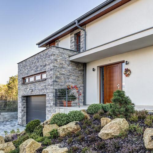parement en pierre reconstituée / extérieur / intérieur / texturé