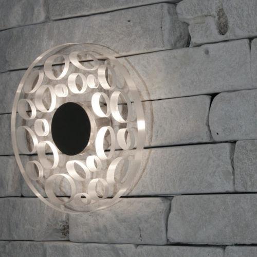 applique murale design original / en acier inoxydable / en polycarbonate / à LED