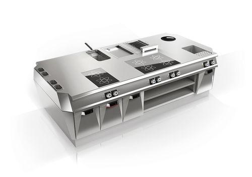 cuisine professionnelle en inox / modulaire / compacte / sur mesure