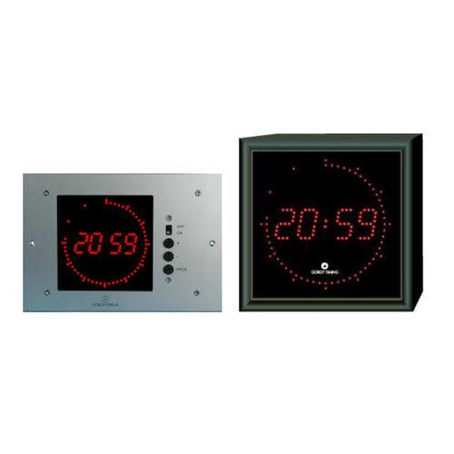 horloge contemporaine / numérique / murale / à LED