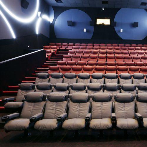 fauteuil de cinéma en tissu / ergonomique / tapissé / inclinable
