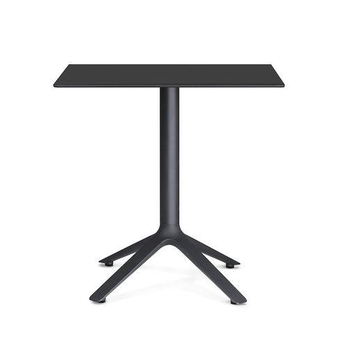 table bistrot contemporaine / en plastique / carrée / d'extérieur