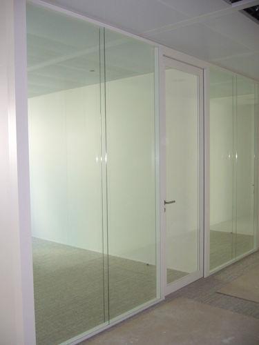 porte d'intérieure / battante / en aluminium / acoustique