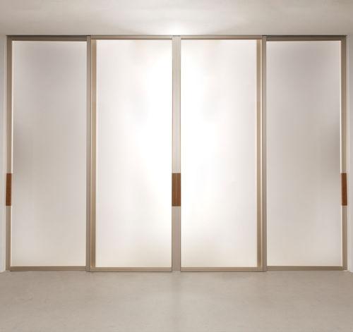 porte d'intérieure / coulissante / en aluminium / vitrée