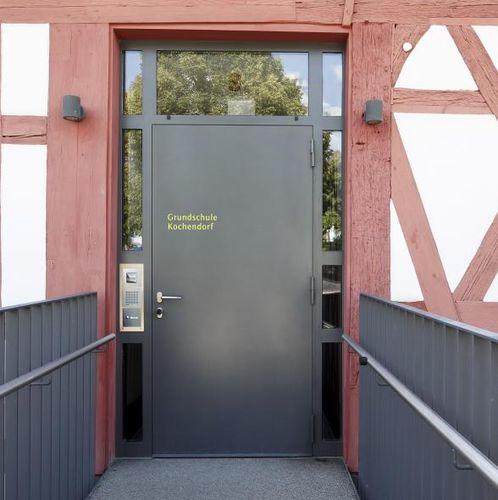 porte d'entrée / battante / en métal / à coupure thermique