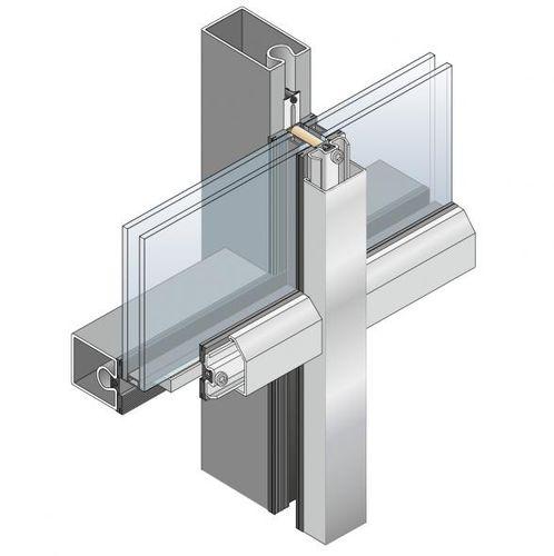 mur-rideau ossature autoportante / en métal et en verre / avec isolation intégrée / à haute résistance