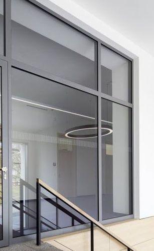 baie vitrée en acier / à double vitrage / à isolation thermique / de sécurité