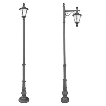 lampadaire urbain / classique / en fonte d'aluminium / en acier inoxydable