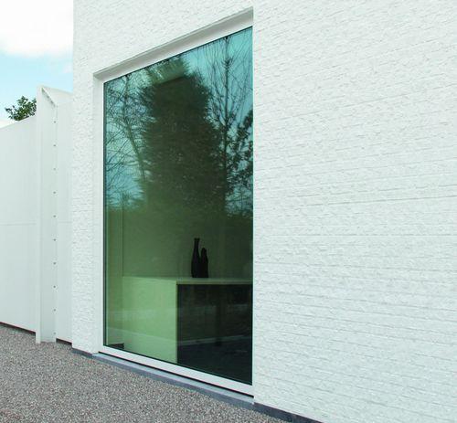 baie vitrée en aluminium / à double vitrage / à isolation thermique / de sécurité