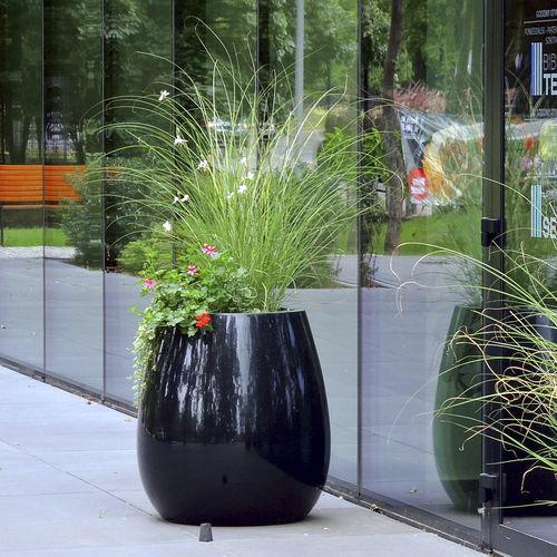 pot de jardin en composite / à poser / rond / lumineux