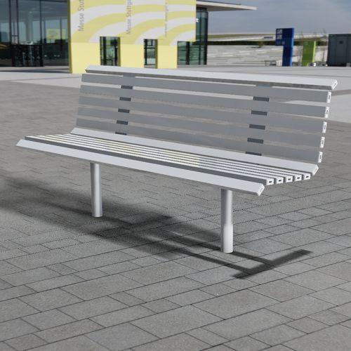 banc public / contemporain / en acier galvanisé / en inox