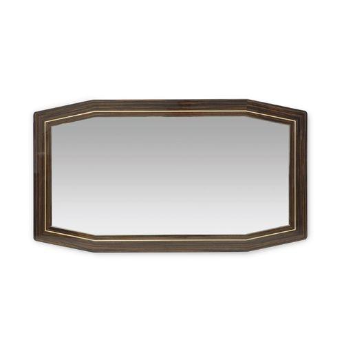 miroir mural / contemporain / en plaqué bois