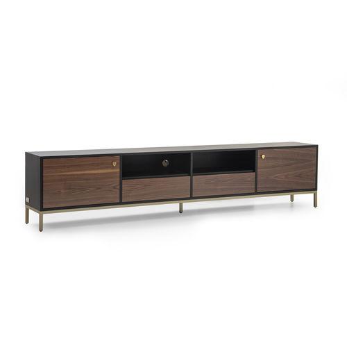 meuble TV contemporain / en plaqué bois