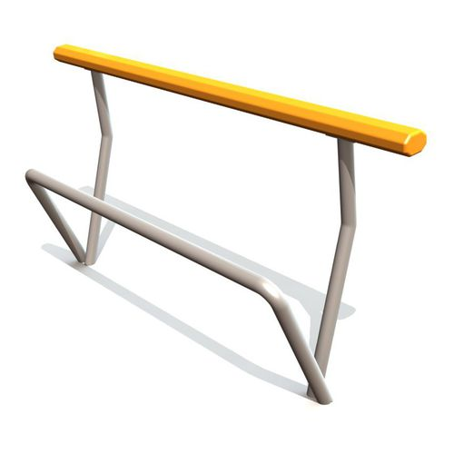 banc public / contemporain / en métal / assis-debout