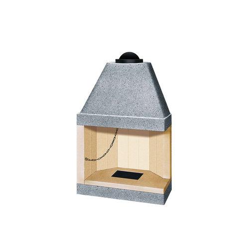 cheminée à bois / contemporaine / à foyer ouvert / d'angle