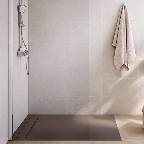 receveur de douche rectangulaire / à carreler / en pierre / en inox