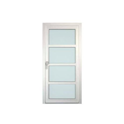 porte d'entrée / battante / en aluminium / en PVC