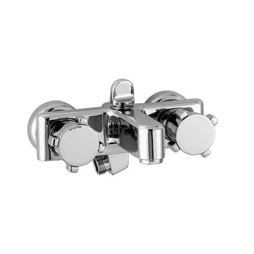 mitigeur de douche / de baignoire / mural / en métal chromé