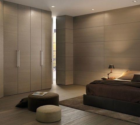 armoire contemporaine / en bois / à porte battante
