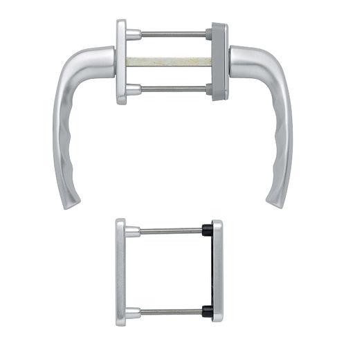 poignée de fenêtre oscillo-battante / en aluminium / contemporaine / avec serrure intégrée