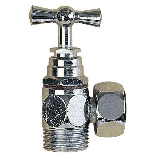 robinet d'arrêt mural / en laiton chromé / d'intérieur / 1 trou