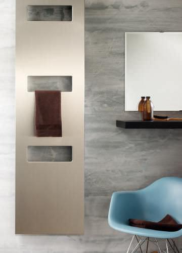 sèche-serviettes à eau chaude / en aluminium / contemporain / vertical
