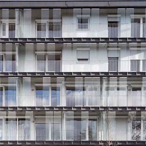 balcon à panneaux / en verre Sécurit® / en acier inoxydable / antieffraction