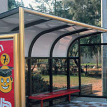 panneau en polycarbonate plan / pour toiture / pour abri / translucide