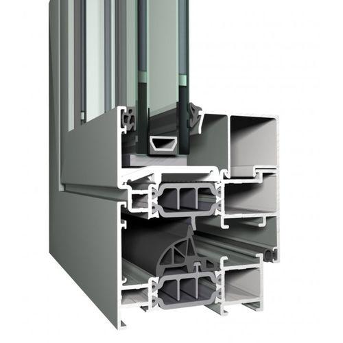profilé pour fenêtre en aluminium / à isolation thermique / antieffraction / ignifuge