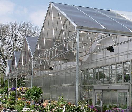 serre professionnelle / de jardinage / multi chapelle / en polycarbonate